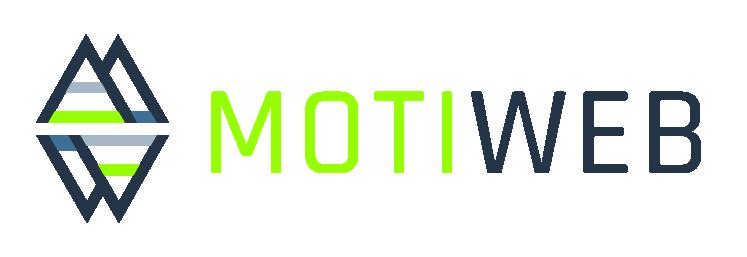 MotiWeb Logo Triangle v4 SANS Tagline Grangreen-256