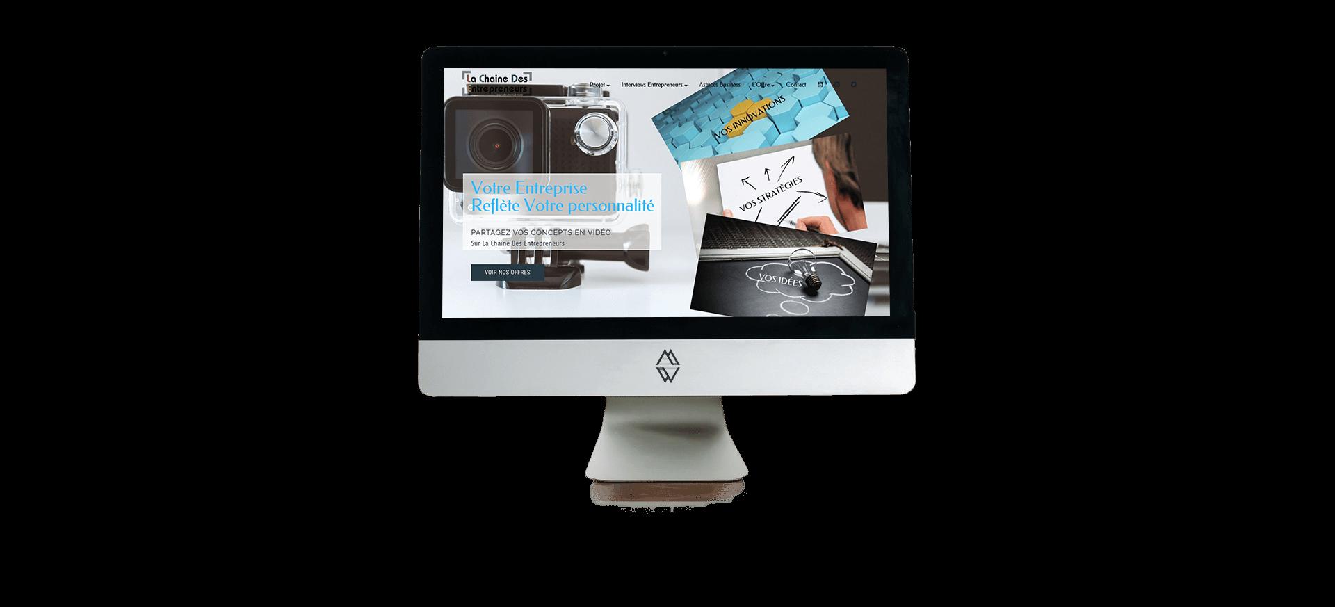 Site Wordpress La Chaîne des Entrepreneurs