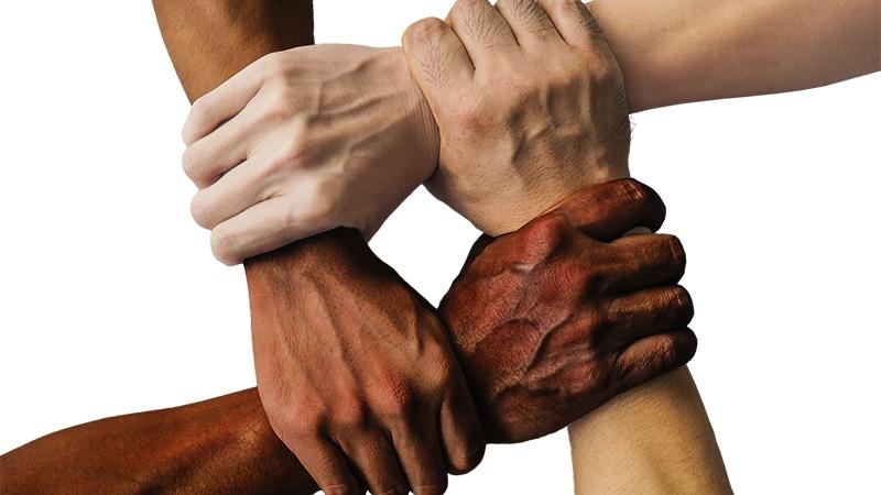 liens mains unies équipe