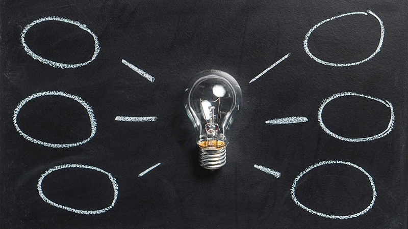 ampoules idées ardoise