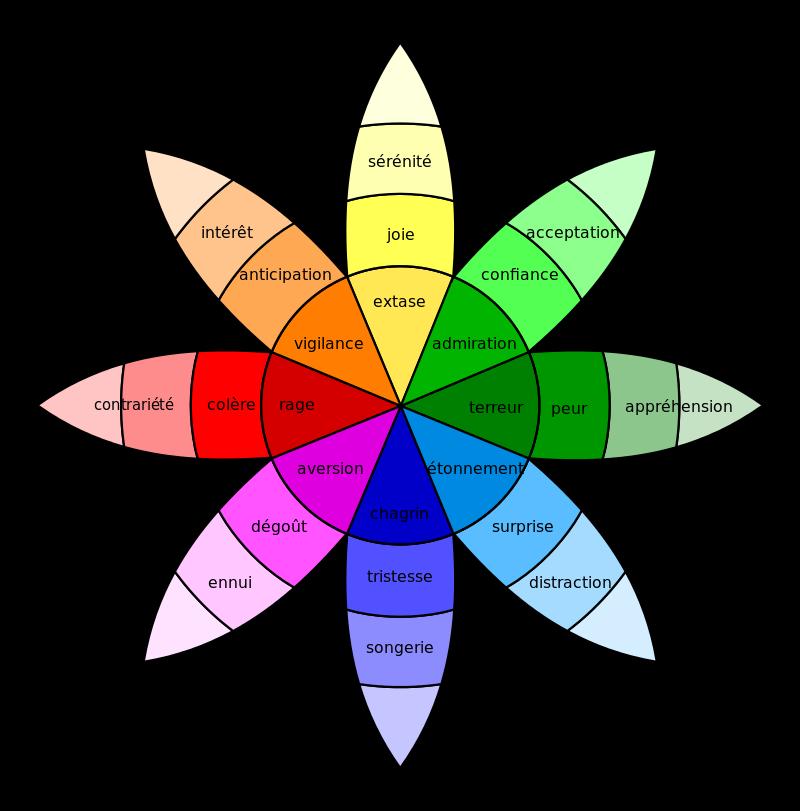 Diagramme Fleur Émotions Couleurs