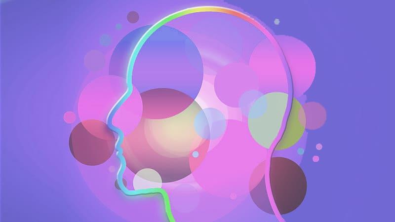 cerveau couleurs ronds
