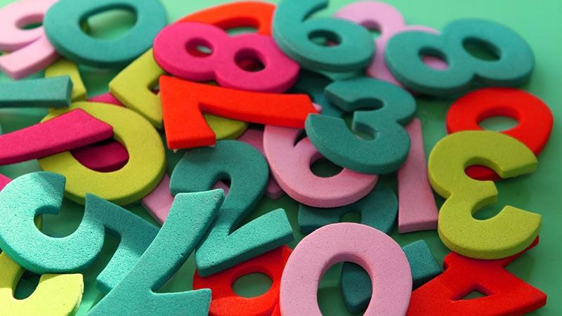 chiffres jouets