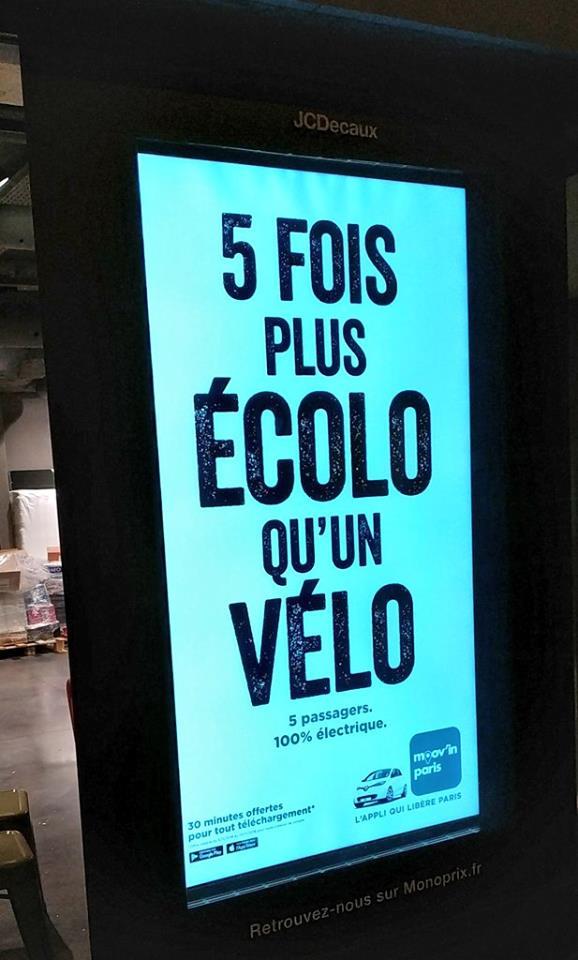 Publicité de Moov'In'Paris ayant fait l'objet d'une plainte auprès du JDP.