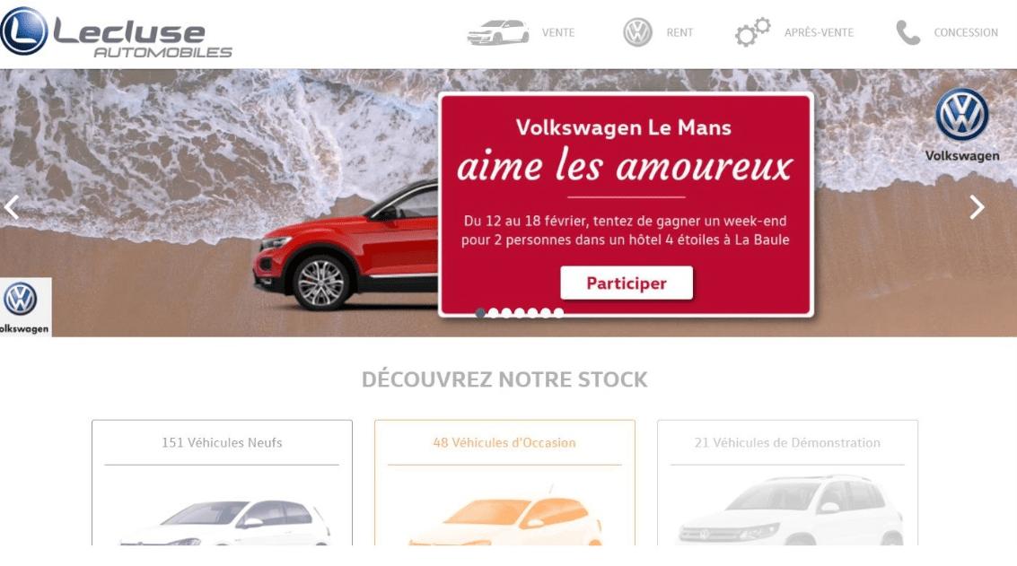 Publicité de Lecluse Automobiles au Mans faisant l'objet d'une plainte auprès du JDP.